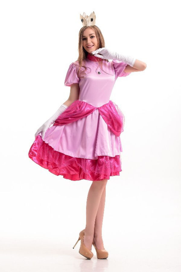 Vocole Rosa Super Mario Brothers Princesa Peach traje desgaste del ...