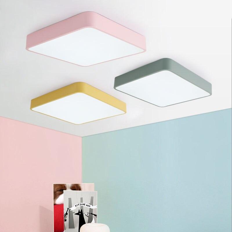 LED ceiling light square 30cm Iron Acrylic kitchen bedroom foyer LED chip indoor dustproof decorate lighting fixture AC110-265v