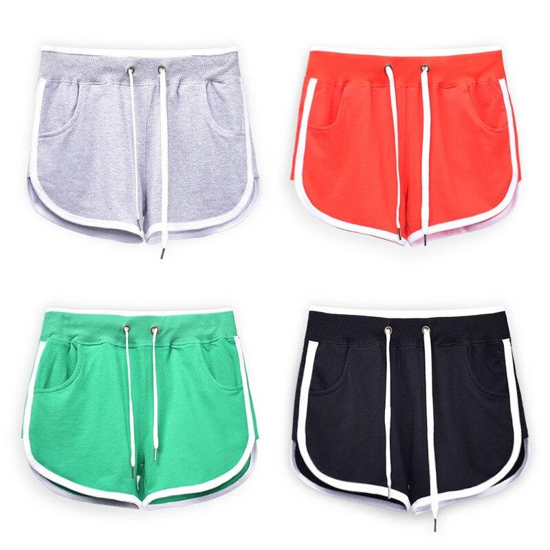 Summer New Cotton Loose White Shorts Leisure Rainbow Women Clothes 2019 Black Rave Mini Fem Me Plus Size Sexy Loose Green
