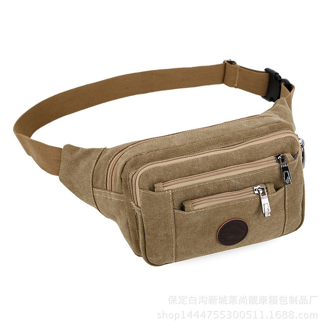 Manufacturers supply pockets multifunctional WALLET business BAG canvas collection leisure waist bags small travel belt bags
