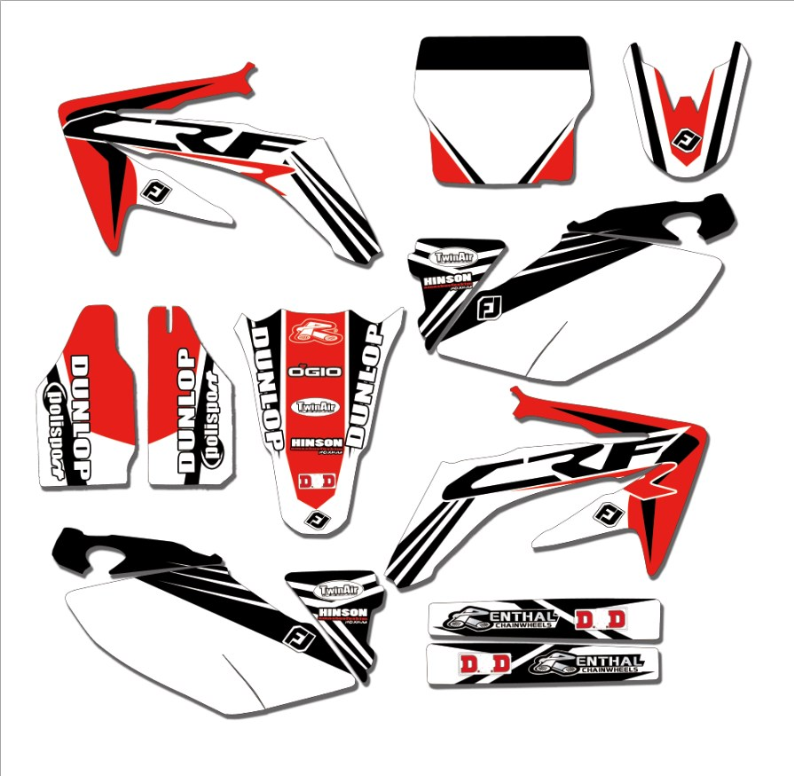 Custom Number Background Graphics Decal Sticker For Honda CRF250 CRF250R 2004 2005 CRF 250 250R 2006
