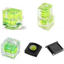 Universal 3 Axis Hot Shoe Fixed Bubble Spirit Level 3D Spirit Level For Canon/Nikon/Pentax DSLR Camera Photography Accessories