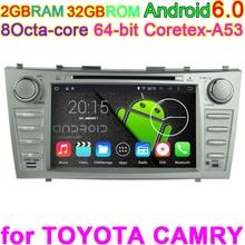 "6.0.1 Núcleo Octa Androide de DVD Del Coche de Navegación GPS PC para Toyota Camry 2007 2008 2009 2010 2011 de Audio de ALTA DEFINICIÓN de 8 ""resolución 1024 * RGB * 600"
