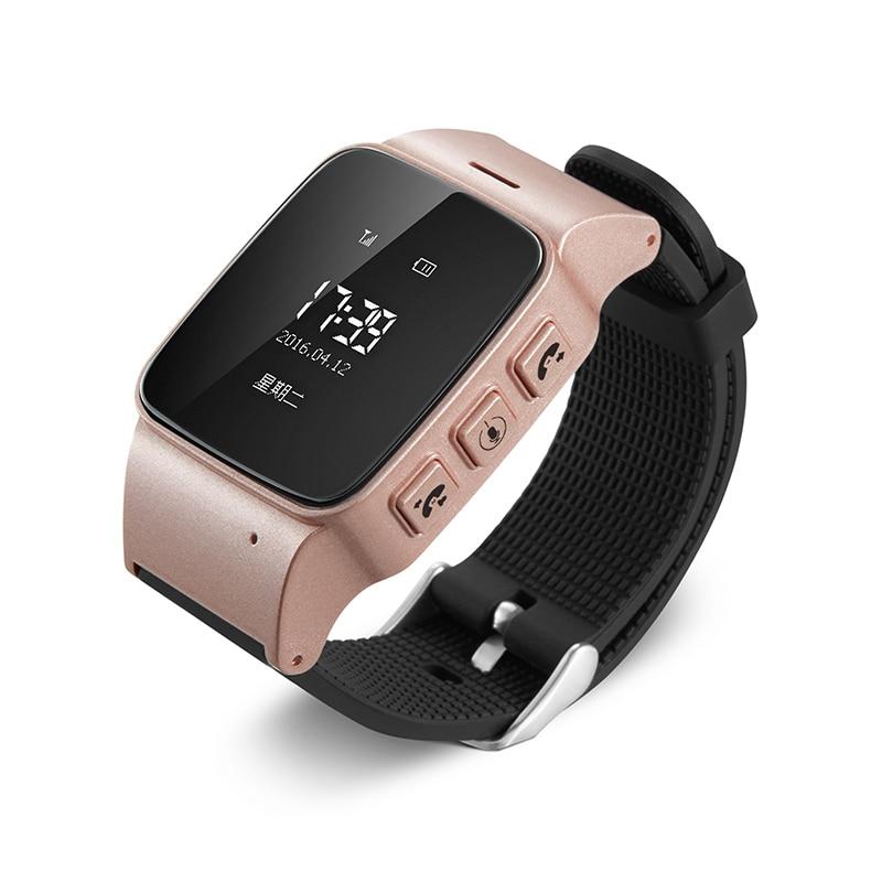 D99 Montre Smart Watch D99 Personnes Âgées enfants Smart Montre Téléphone SOS Anti-perdu Gps + Wifi de Suivi montre pour iphone Android téléphones Vieux Hommes femmes