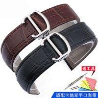 Thích hợp cho Cartier tank solo w6700255 bất leather watch với chất lượng cao leather strap 16 mét 18 mét 20 mét 22 mét 23 mét 24 mét 25 mét