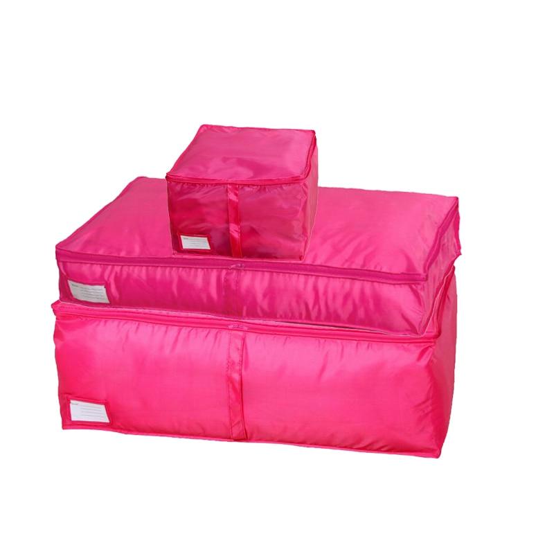 HOMEBEGIN сумки для хранения стеганых одеял Оксфорд багажные сумки Домашний Органайзер для хранения моющийся шкаф для хранения одежды сумки для хранения S-L - Цвет: Rose
