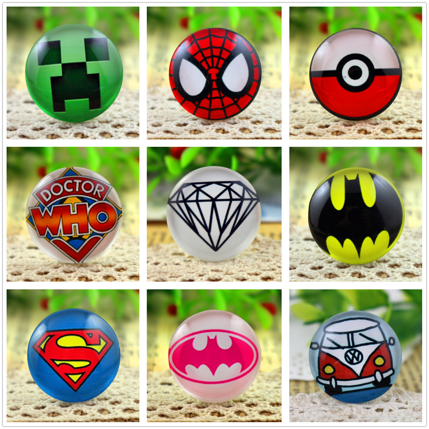 цены New Fashion 5pcs/Lot 25mm Handmade Photo Glass Cabochons (Hot sales series)
