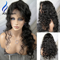 Alicrown Black Friday 150 Density Human Hair Full Lace Wigs Curly Lace Frontal Wig Brazilian Virgin Hair Lace Front Wig