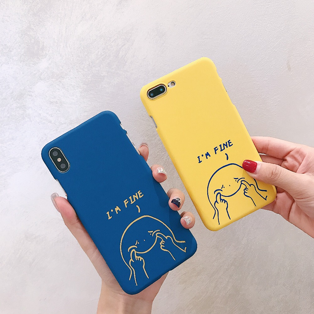 i X S Case For iPhone 8 7 Plus XS Max XR X Phone Case Creative Patterned Plastic Cover For iPhone 6 S 7 8 Plus X XR XS Max Cover