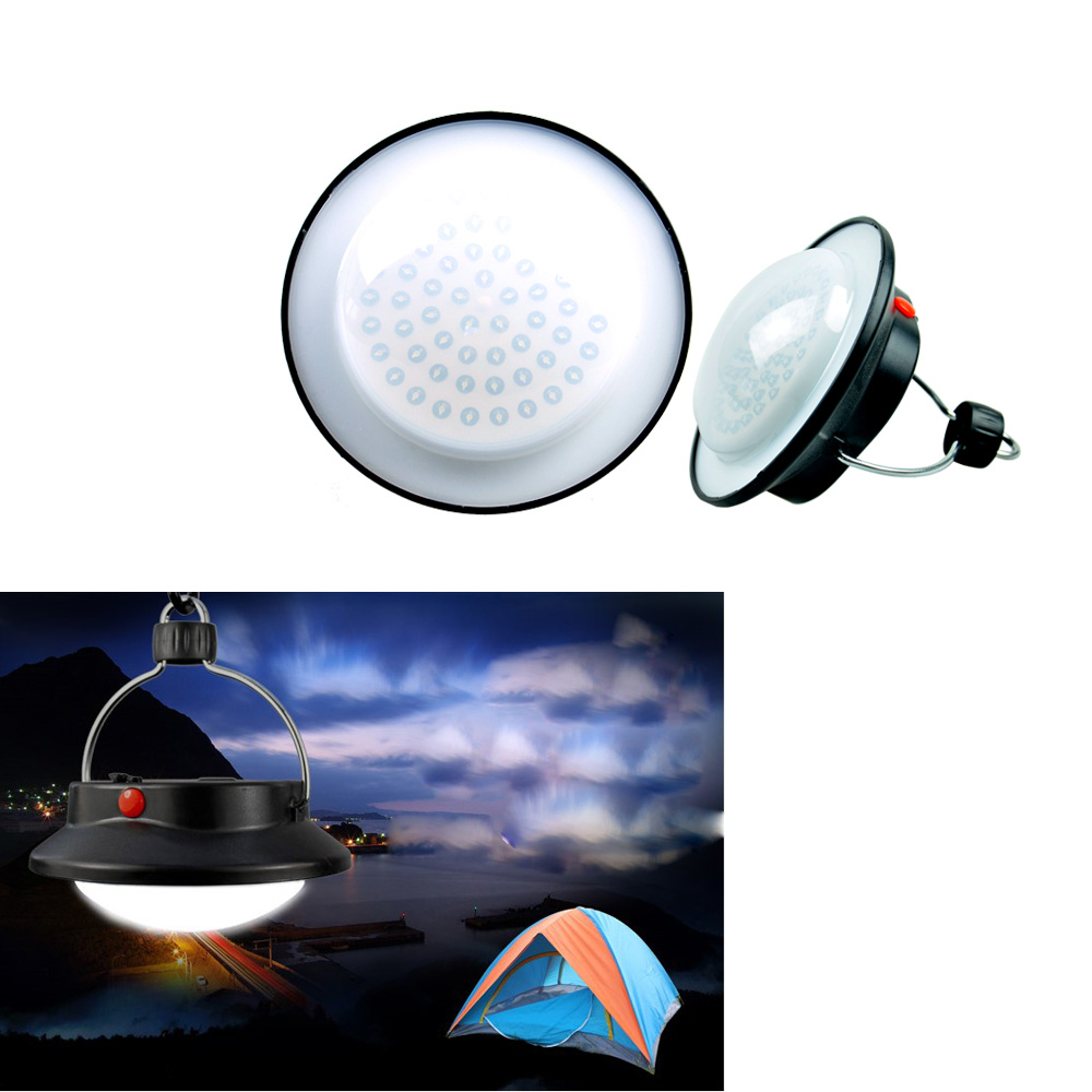Outdoor Camping 60 LED Lamp Portable Lantern Hiking Emergencies Light W Lampshade Circle Tent White Campsite Hanging In Tools From