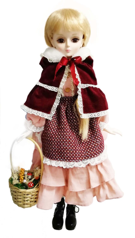 Cosette BJD poupée Vintage fille rose avec panier à fleurs 22In. (60 CM) avec emballage cadeau rose