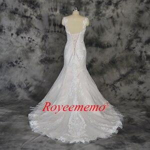 Image 5 - Champagne e avorio speciale di disegno del merletto vestito da cerimonia nuziale classico di stile della sirena abito da sposa su ordine della fabbrica di prezzi allingrosso