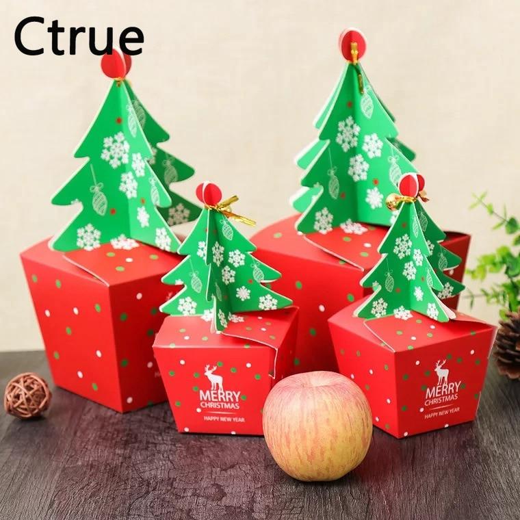 20pcs/lot christmas tree candy box Cookie Cholocate Boxes ...