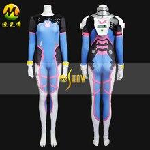 Game D.VA Costume Female/Women/Girls/Lady Halloween Cosplay d.va Zentai Catsuit Custom Spandex Digital Print D VA Bodysuit