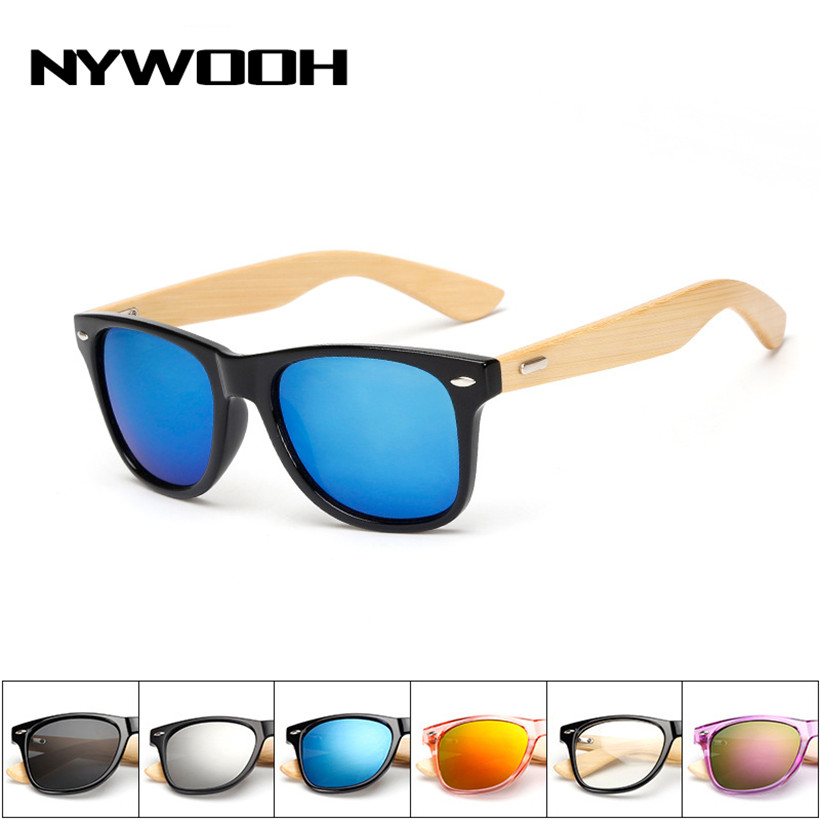 NYWOOH de Bambu Do Vintage óculos de Sol Das Mulheres Dos Homens Marca  Designer Óculos de Sol Masculino Óculos de Sol De Madeira de Madeira  Espelhado Lente ... 3b07eea853
