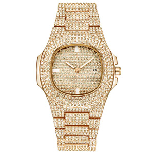 Image 4 - Ijs Out Bling Diamond Horloge Voor Mannen Vrouwen Hip Hop Mens Quartz Horloges Roestvrij Stalen Band Zakelijke Horloge Man unisex Gift