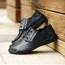 Shoes+male Classic Genuine Leather Shoes Men Extra Large Size Shoe Personality City Walking Cool Leather Shoes Zapatillas Hombre(China)
