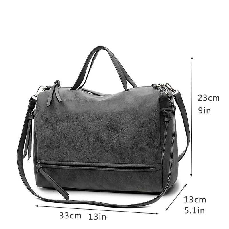 Bolish Brand Fashion Female Shoulder Bag Nubuck Leather women handbag Vintage Messenger Bag Motorcycle Crossbody Bags in Shoulder Bags from Luggage Bags