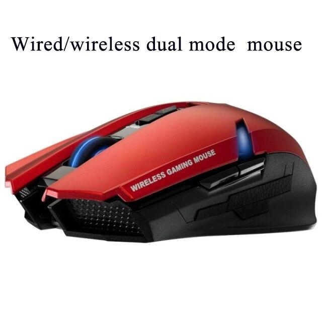 2017 NOUVEAU 2000 dpi réglable 2.4g Sans Fil dual mode souris avec batterie rechargeable souris de jeu pour PC tablet - 5