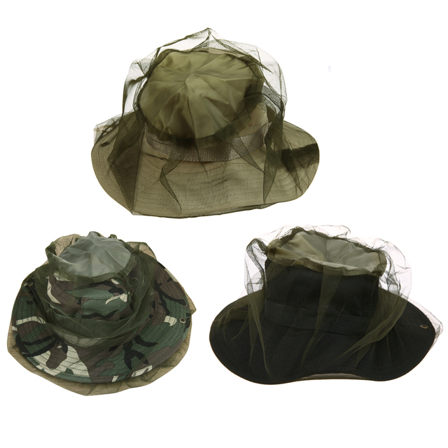 48a3646cb3132 Travel Outdoor Camping Protector Anti Mosquito Bug Insect Mesh Hat Head  Face Protect Net Cover Boonie Hat Fishing Caps