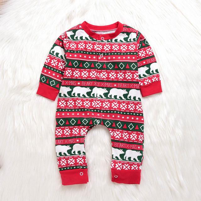 Baby Christmas Santa Letter Romper