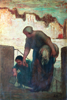 Figurativa pintura cartel de la foto del arte del retrato pintura tribunal Honore Daumier La Lavandera (La Blanchisseuse)
