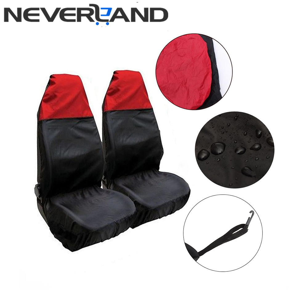 High Density Nylon Waterproof Auto Car Front Seat Cover Sweat Sand Sports Carseat Protector Red Removable