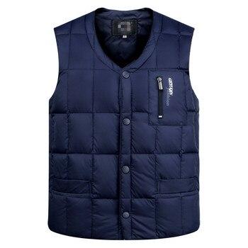 Жилет мужской утепленный на подкладке, куртка без рукавов, хлопковый жилет, верхняя одежда на осень и зиму