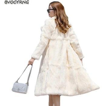 New Fur Coat Female Long Section Jacket 2018 Autumn And Winter Women Fur Faux Fur Coat Womens Plus Size warm Winter Parka S-6XL
