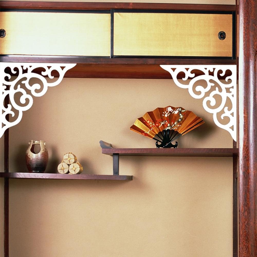 yazi Hollow Floral Screen Wood Plastic Wall Ceiling Corner Hanging ...