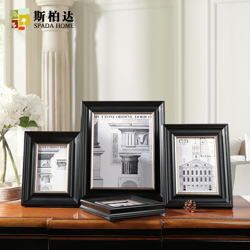 free shipping 46710 inch cheap photo frames 102102cm modern minimalist frame picture black 35x5 picture frames for baby