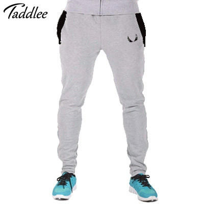 Taddlee Brand Men GASP Man Pants Casual Elastic cotton Mens Fitness Workout Pants skinny,Sweatpants Trousers Jogger Pants Man