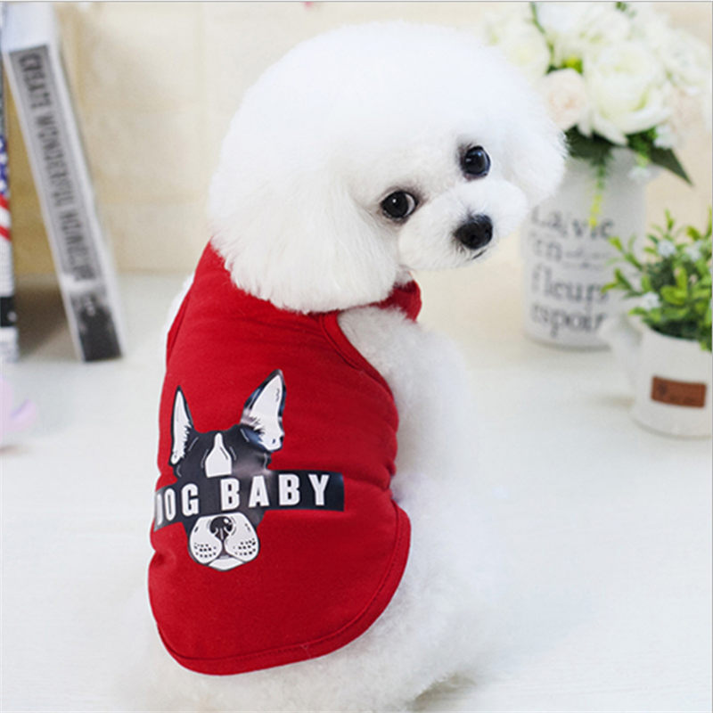 Vest Small Dog Cat Dogs Clothes Cotton T Shirt Vest Pet Puppy Summer Apparel Clothes Dog Shirt Vest in Dog Coats Jackets from Home Garden