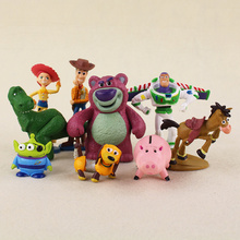 9 unids lote Cosplay Toy Story 3 Sheriff Woody Buzz Lightyear Jesse Hamm Rex  Slinky perro PVC figura de acción modelo muñeca Jug. 770fbfe150d