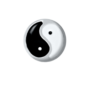 Hot selling 20pcslot YING YANG floating charms living glass memory floating lockets for diy jewelry
