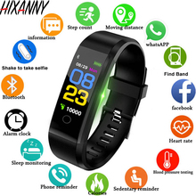 цена ID115Plus Smart Bracelet Sport Bluetooth Wristband Heart Rate Monitor Watch Activity Fitness Tracker Smart Band PK Mi band 2 онлайн в 2017 году
