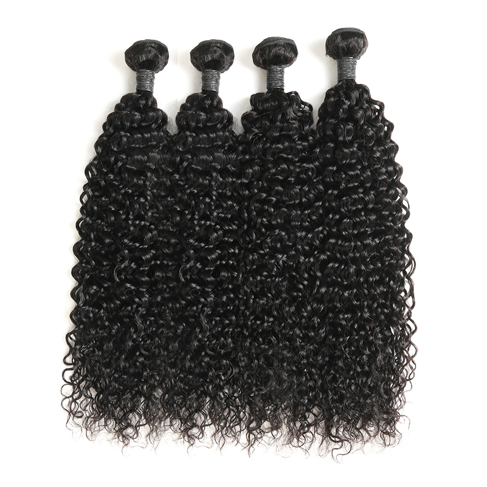 Brazilian Water Wave Bundles Zing Silky Human Hair Weave Bundles Deal Natural Hair Extensions 1B#  Remy Hair 1/3/4 Pieces