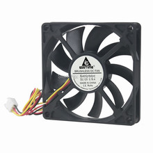 1PCS 3Pin CPU Cooling Cooler Fan Heatsinks Radiator 80mm 15mm DC 12V For PC Computer 1pcs 80mm aluminium radiator fan included water cooling