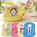 Bonito Crianças Infantil Protetor Padrões Dos Desenhos Animados Babadores Alimentação Do Bebê Lavável À Prova D' Água BPA livre