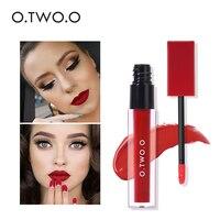 O TWO O Hot Fashion Waterproof Matte Lipstick Long Lasting Liquid Lipstick Lip Gloss Tint Lipgloss