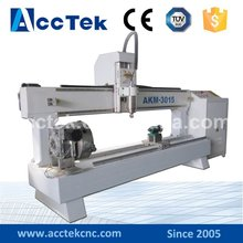 Acctek AKM3015 high precision China new design cnc router for cylindrical process