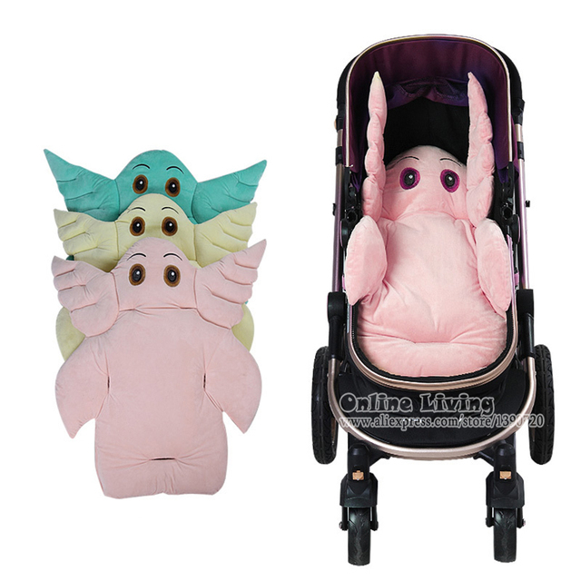 Cartoon Elephant Shaped Stroller Seat Liner Baby Cushion Pad Car Mat Protector