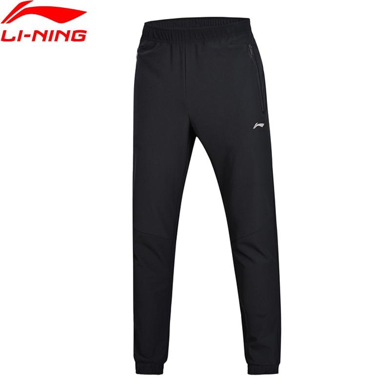 Li-Ning Men Active Training Track Pants Regular Fit TPU Elastic 86%Polyester 12%Spandex Fitness Sports Pants AYKN009 MKY345 original li ning men professional basketball shoes