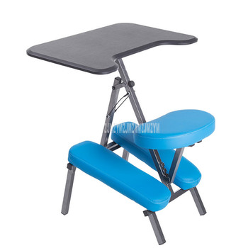 Household Adult Student Learning Foldable Office Chair With Desktop Writing Desk Ergonomic Sit Posture Correction Kneeling Chair