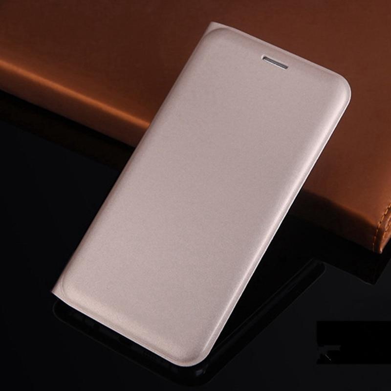 Flip läderfodral tunn plånbok bakomslag mobiltelefon fodral med - Reservdelar och tillbehör för mobiltelefoner