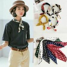 Маленький шарф, мягкая лента для волос, декоративный Многофункциональный головной платок, разноцветная полоска, принт, платок на шею