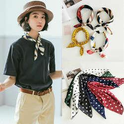 Небольшой шарф мягкие волосы галстук группа декоративные Универсальный шарф многоцветная полоса печати платок средства ухода за кожей Шеи