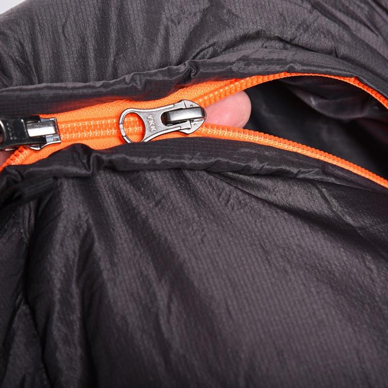 Image 5 - VILEAD портативный вниз гамак для сна сумка Сверхлегкий Водонепроницаемый Кемпинг Туризм Открытый сон кровать для взрослых выживания зимние путешествия-in Спальные мешки from Спорт и развлечения