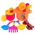 Brinquedos da Praia da Areia Conjunto de 9 Peças em Saco de Malha para Crianças