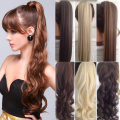 "26"" Long Ponytail Clip In Pony Tail Hair Extension Extensions Wrap on Hair Piece Straight Style 100% Top Quality Free Shipping"
